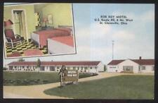 Postcard ST CLAIRSVILLE OH  Rob Roy Tourist Motel Motor Court Dual view 1950's