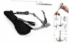 Cyfie Grappling Hook, with 10m/33ft 8mm Auxiliary Rope Upgraded Claw Stainless S