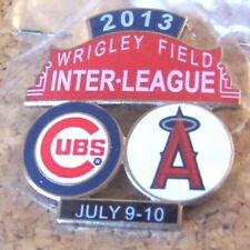 2013 Chicago Cubs LA Los Angeles Angels Wrigley Field Interleague pin c37503