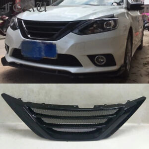 For Nissan Sentra 2016 2017 2018 Front Bumper Grill Facelift Grille Gloss Black