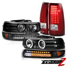 CHEVY SILVERADO 1500 2500 Halo Rim LED Tail Light Parking Headlight Projectors