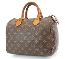 Authentic LOUIS VUITTON Speedy 25 Monogram Boston Handbag Purse #36327