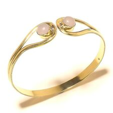 Rose Quar2tz Tibetan Silver Brass Bangel Cuff Bracelet Gemstone Elegent Jewelry