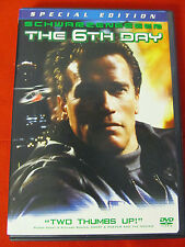 The 6th Day:Special Ed. 2 DVDs.OOP Arnold Schwarzenegger Tony Goldwyn clone sf
