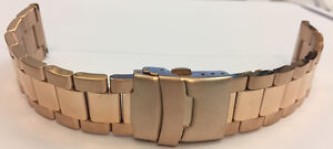 Massive Stainless Steel Watches Bracelet IN Rose Gold Plated Ip-Rose Gold