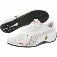NIB Men's Puma FERRARI SF DRIFT CAT 5 ULTRA SHOES Shoes White/Yell