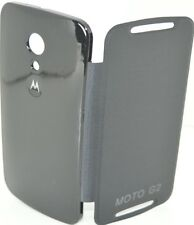 Premium Flip Cover Battery Back Case Motorola Moto G2 G 2 Gen 2nd XT1068 BLACK