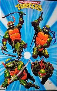 Teenage Mutant Ninja Turtles Poster 1989 Original Vintage IN WRAP Pin Up