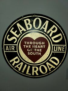 Vintage Seaboard Railroad Sign