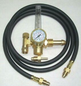 Argon or Argon/CO2 Mix Flowmeter Mig Tig Welding Regulator w 10' Inert Gas Hose