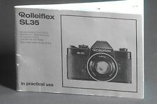 Rollei Rolleiflex SL35 In Practical Use Camera Instruction / Manual / User Guide
