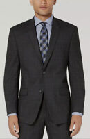 $825 Marc New York 38R Men's Gray Modern-Fit Check Suit Jacket