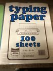 Penworthy Typing Typewriter Paper 100 Sheets Vintage Sealed