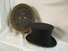 Antique Dunlap & Co N.Y Collapsible Opera Top Hat Original Box Richmond VA store