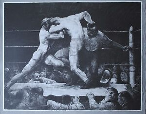 Limited Edition: A Stag at Sharkey's 1917 by George Bellows Poster Boston 1985
