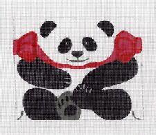 *NEW*  LIZ Panda Bear Roll up 3-D Ornament handpainted Needlepoint Canvas