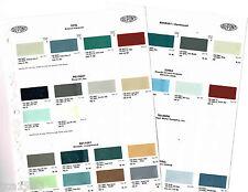 1961/1962 RENAULT Auto Color Chip Paint Sample Brochure/Chart