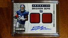 2012 Panini Gridiron Rookie Gems 2 Materials patch David Wilson New York Giants