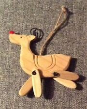 Hanging Wooden Christmas Decoration - Reindeer