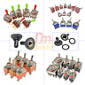 1/5/10PCS MTS/E-TEN 2/3/4/6/9/12Pin 6mm/12mm Mini Toggle Switch SPDT/DPDT 250V