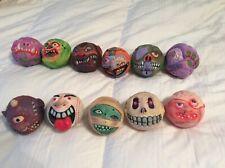 Madballs 11 original 85' & 86' skullface, hornhead, crackhead, dust brain, foam