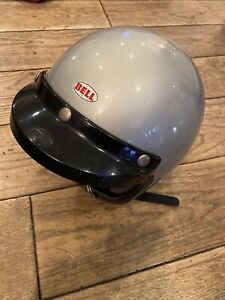 Vintage Bell Super magnum size small Motorcycle Helmet silver