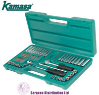 "KAMASA 63PC 1/4"" DR SOCKET & BIT SET, METRIC & IMPERIAL - SS1463"