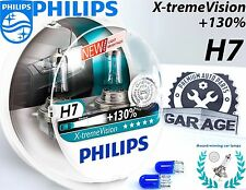 Philips H7 Xtreme Vision +130% Headlight Bulbs 12V 55W xtreme PX26d + Blue W5W
