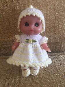 "Hand Knit Dolls Clothes.5.5"" Berenguer Lil Cutesies Doll. Dress,pants,hat& Shoes"