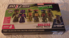3D It TMNT Character Creator Deluxe Refill Pack of 6 New NIB Turtles