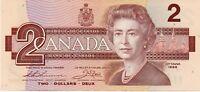 Canada Banknote 2 Dollars New never folded 1986 Queen Elizabeth II