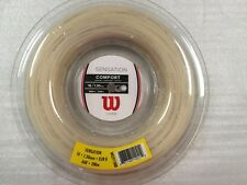 New WILSON SENSATION Tennis String 1.30 Reel, 200m/660Ft 16 gauge Natural