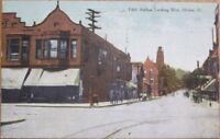 Moline, IL 1910 Postcard: Fifth Avenue West / Downtown - Illinois Ill