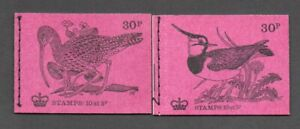 2 Different 1971 Birds Machin Booklets Lapwing/Curlew SG DQ56 DQ58 Post Free(UK)