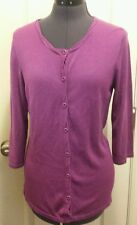 COLDWATER CREEK Purple small S 6-8 Button Up Cardigan Sweater Top
