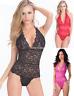 Women Sexy Plus Size Lingerie Lace Sheer Mesh TEDDY Bodysuit Nightwear Size 8-16