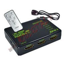 HDMI 3 PORTE SWITCH 3D FULL HD TV SDOPPIATORE TELEVISORE MONITOR TELECOMANDO