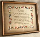 Motto Picture/Plaque, Framed Poetry, Verses, Sayings, 1930-1940s, Edgar A Guest