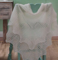 KNITTING Pattern- Vintage shetland lace weight baby shawl- see description