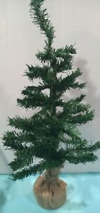 2ft Norway Pine Artificial Christmas Tree. Heavy Jute wrapped base 60cm, 61 tips