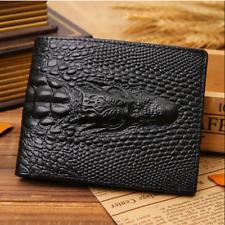Portefeuille Cuir Noir en peau de crocodile Dragon Homme porte-cartes de crédit