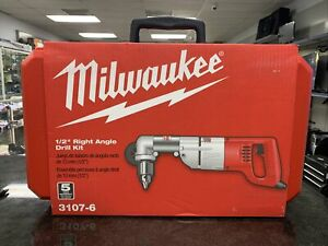 Milwaukee 3107-6 1/2 Inch Right Angle Drill Kit NIB