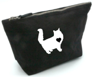 Maine coon cat, bag, gift, cosmetics, makeup, toiletries, medium,