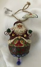 Jim Shore #4014457 - Roly Santa with String of Bells Ornament  - New in box