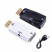 VGA to HDMI Adapter Converter Male VGA in Female HDMI 1080p Video Audio Adapter