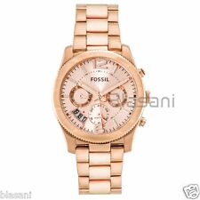 Fossil Original ES3885 Women's Boyfriend Rose Gold Stainless Steel Watch 40mm