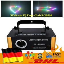 SD-Karte DJ Party Club RGB500 Laser Licht Show DMX ILDA Animation Laserprojektor