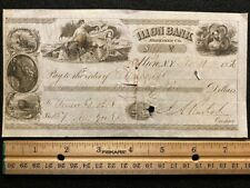 1856 ***ILION BANK*** HERKIMER COUNTY NEW YORK {{VIGNETTE}} BANK CHECK! SCARCE!!