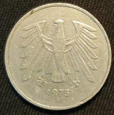DEUTSCHE MARK 5 1975-F Eagle Coin  Bundesrepublik Deutschland