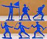 6 Dulcop U.S. Cavalry on foot - 54mm unpainted plastic toy soldiers